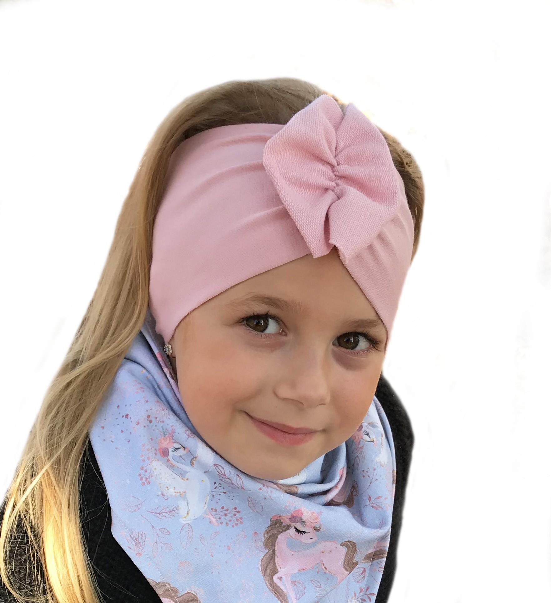Opaska Motylak dla dzieci kolor róż