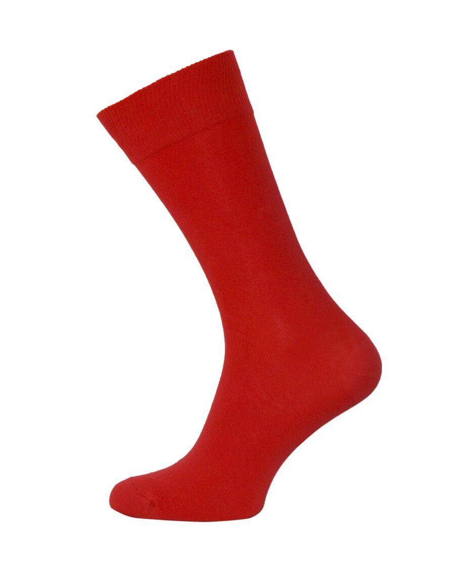 Skarpety BAWEŁNIANE Garniturowe czerwone