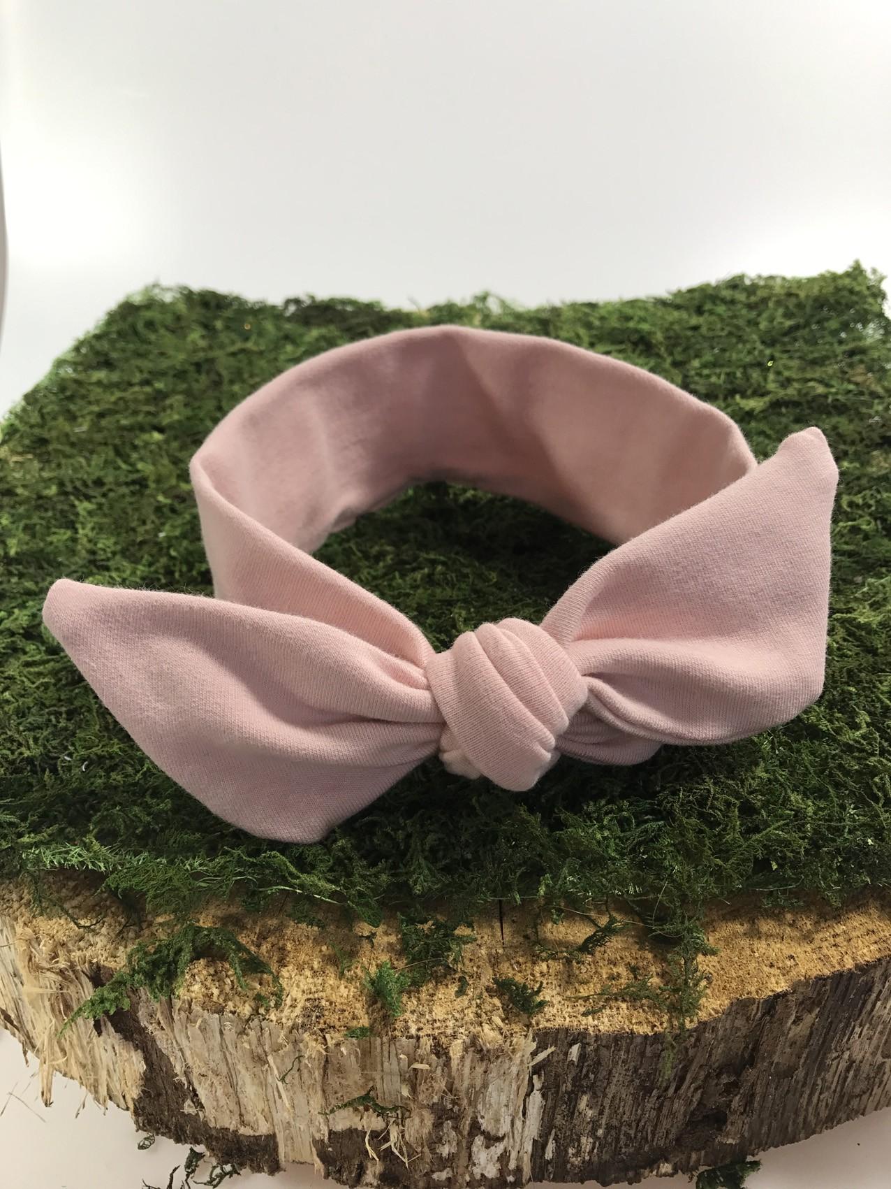 OPASKA PIN-UP kokardka dziecięca-kolor różowo-łososiowy