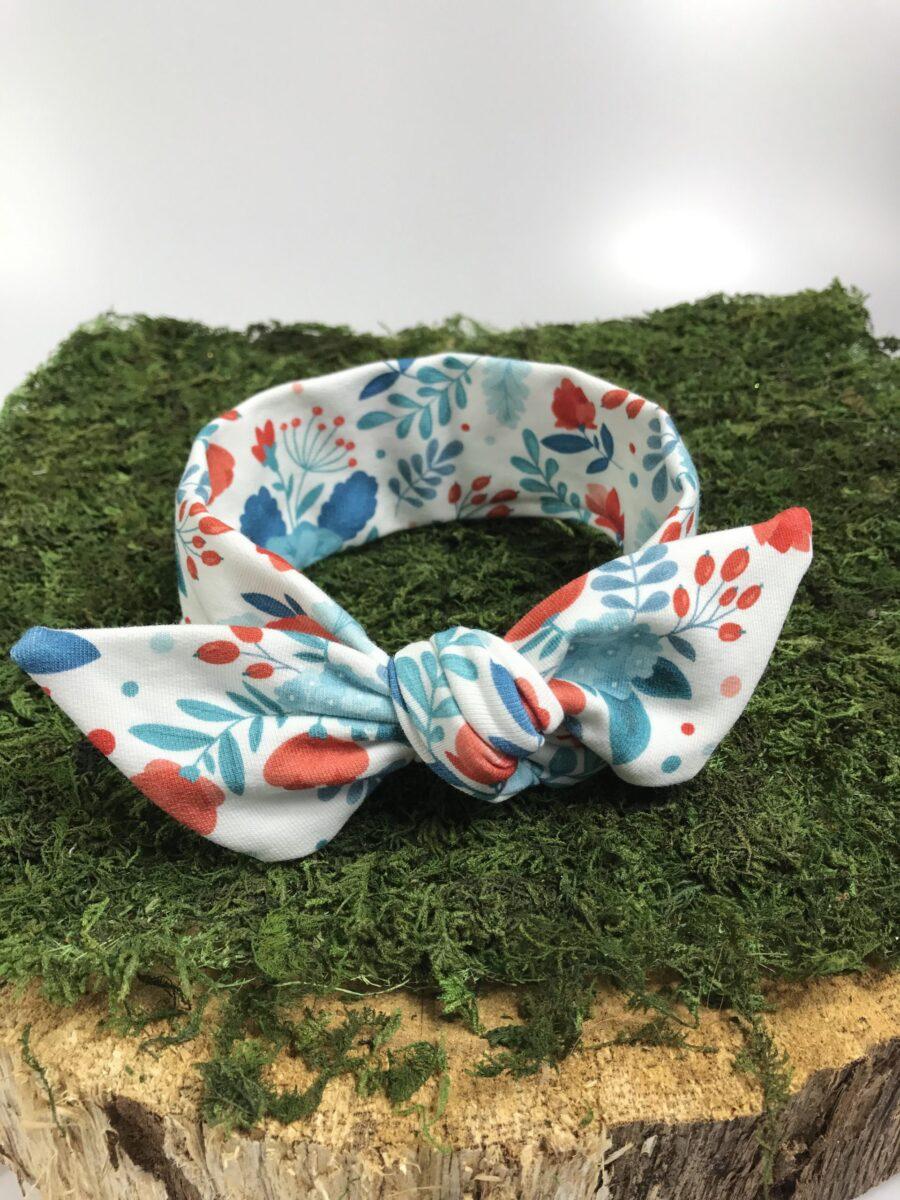 OPASKA PIN-UP kokardka dziecięca-wzór Kwiaty polne