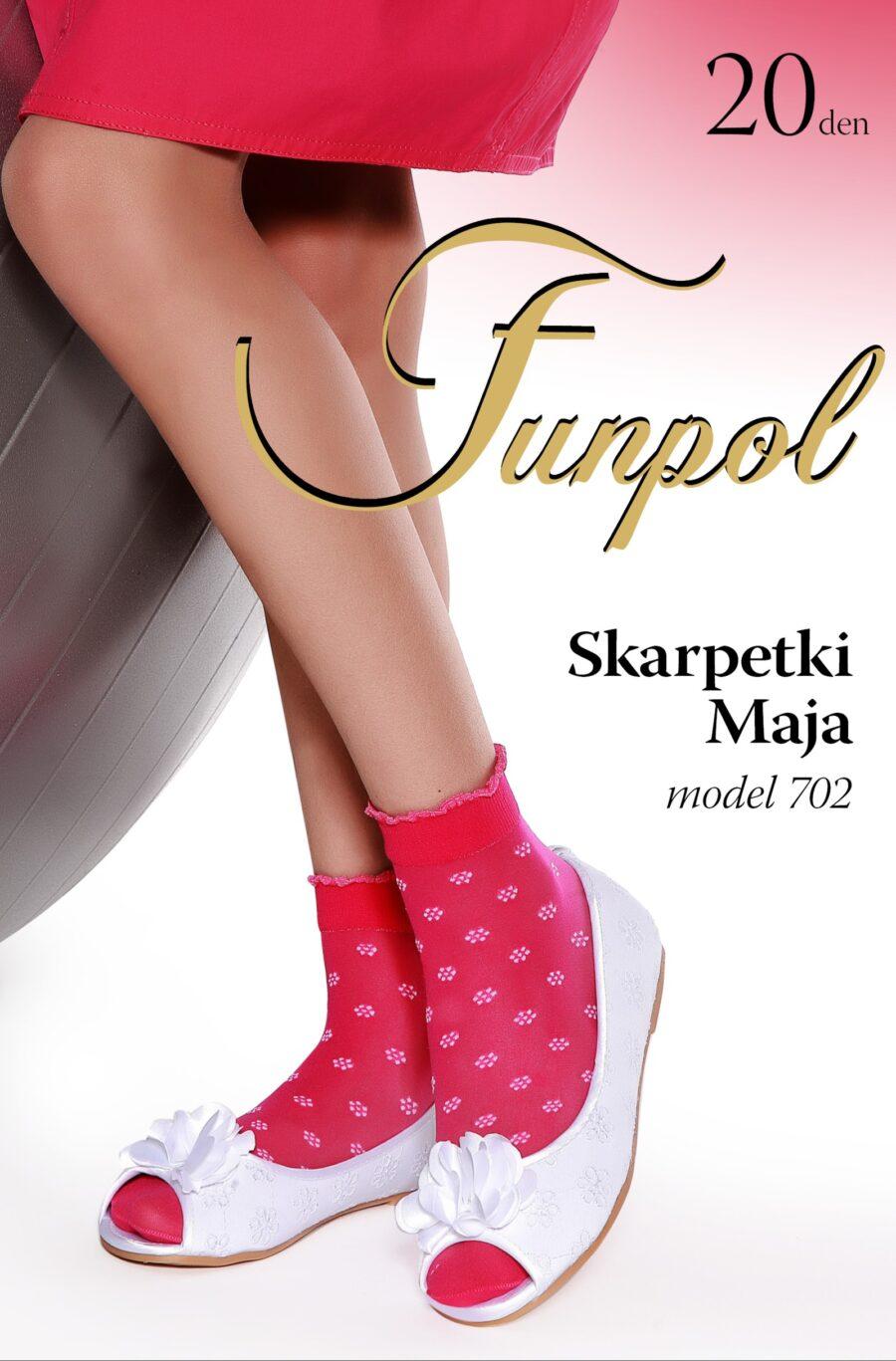 4 pary Skarpetki FUN-POL wzór MAYA 20 DEN