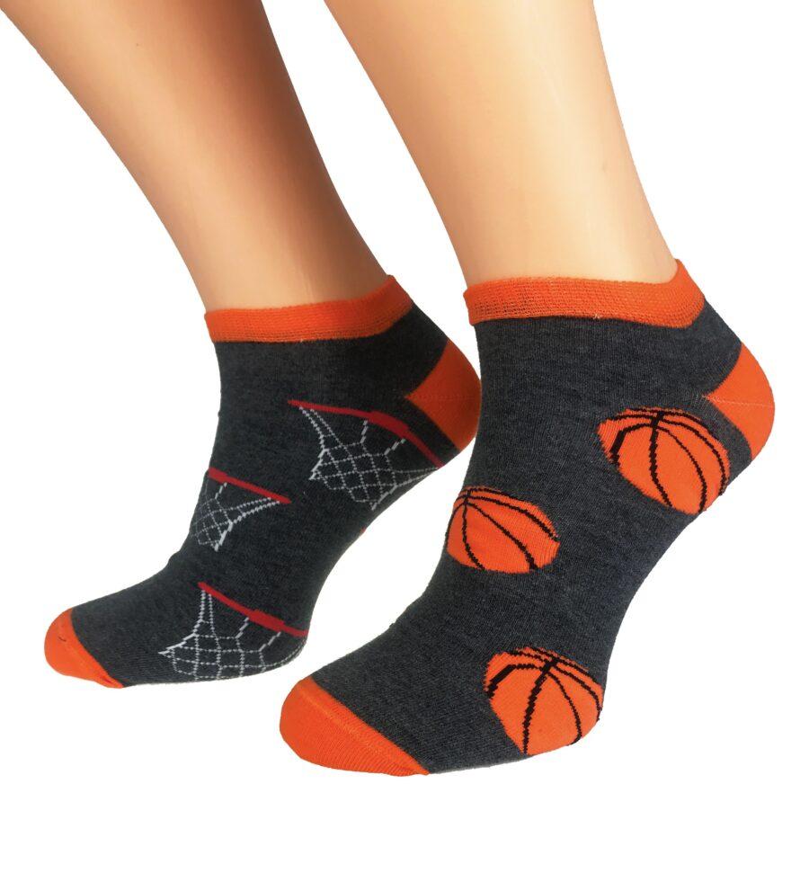 STOPKI BAWEŁNIANE Milena MĘSKIE KRÓTKIE wzór Basketball