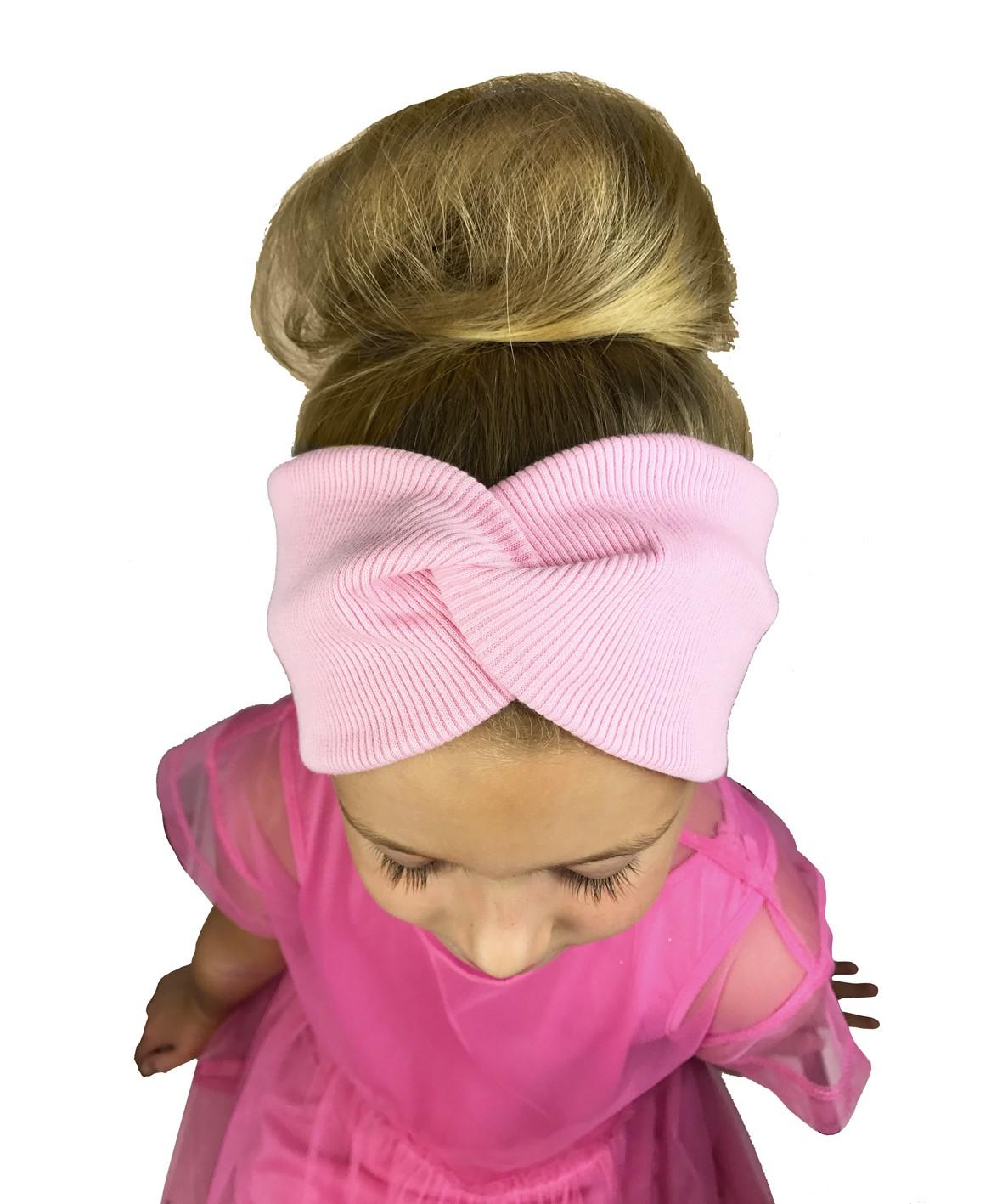 Opaska dziecięca TWIST - kolor różowy