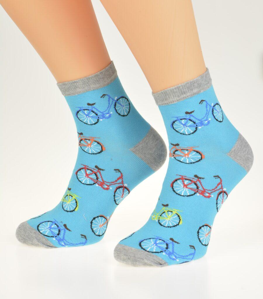 Skarpety niskie Męskie kolorowe wzór rowery