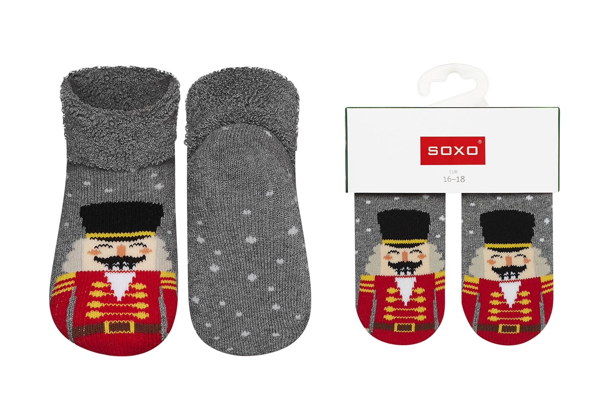Świąteczne skarpety dla niemowlaka SOXO wzór Dziadek