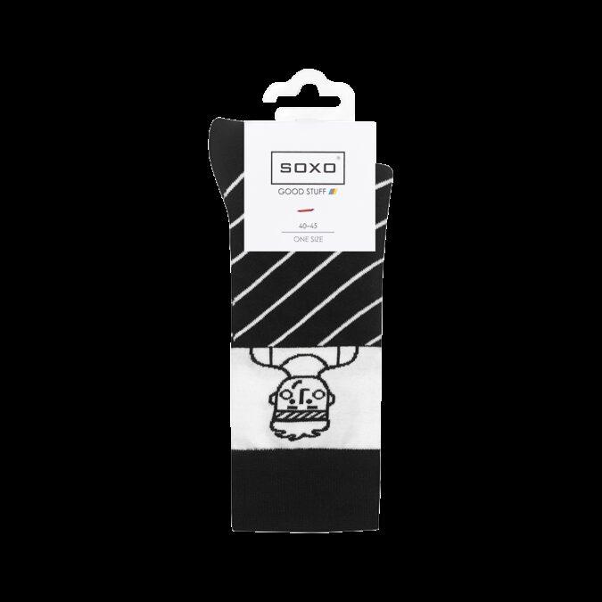 SKARPETKI MĘSKIE SOXO GOOD STUFF biało-czarne biegacz