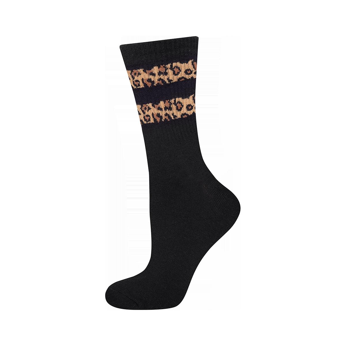 Skarpetki damskie SOXO z paskami w panterkę