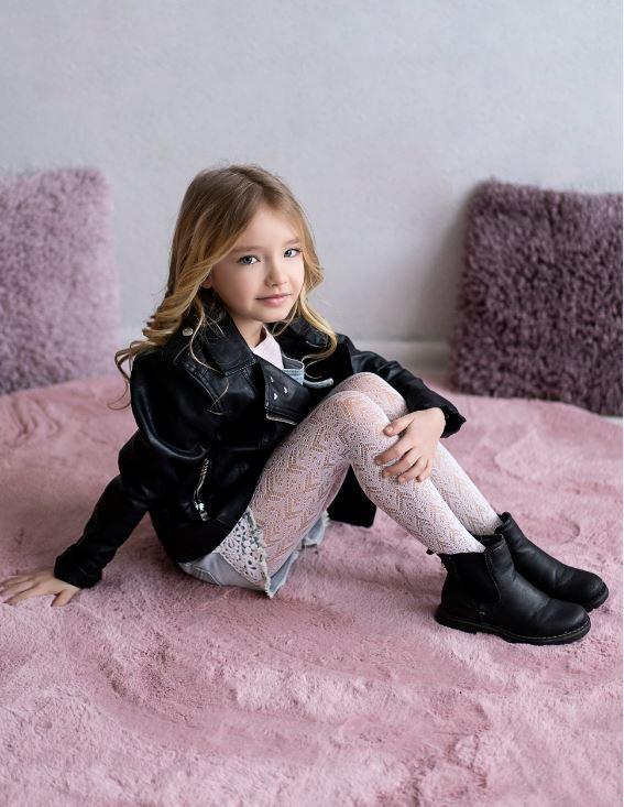 Rajstopy ażurowe dziecięce marki KNITTEX model WERA