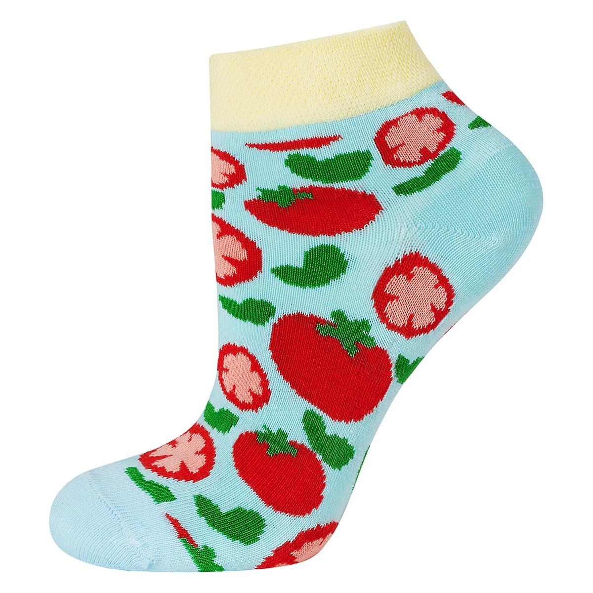 Stopki DAMSKIE SOXO seria GOOD STUFF wzór Pomidory