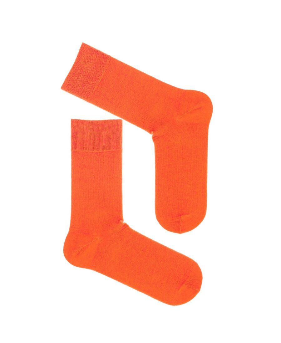 Skarpety bawełniane garniturowe kolor pomarańczowy