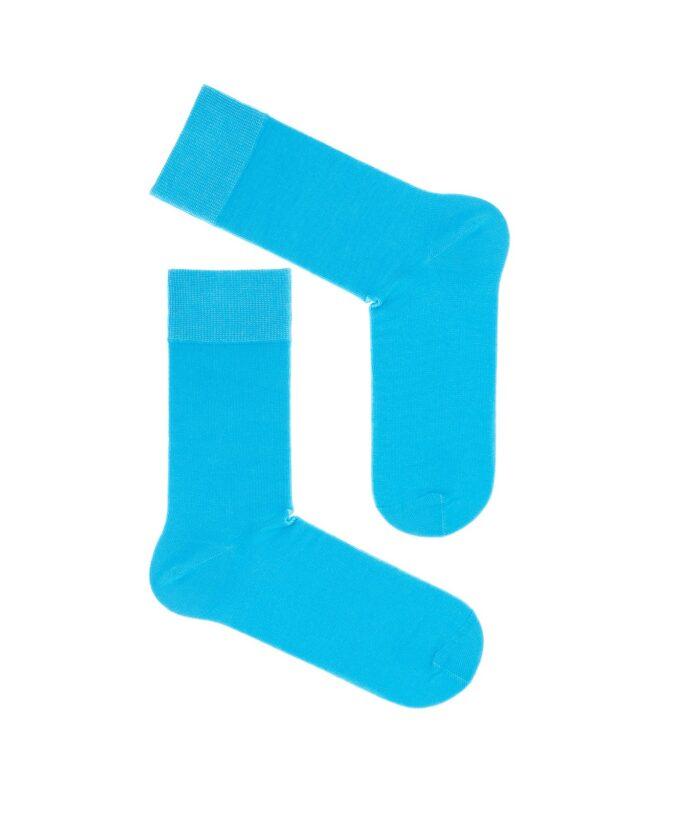 Skarpety bawełniane garniturowe kolor błękitny