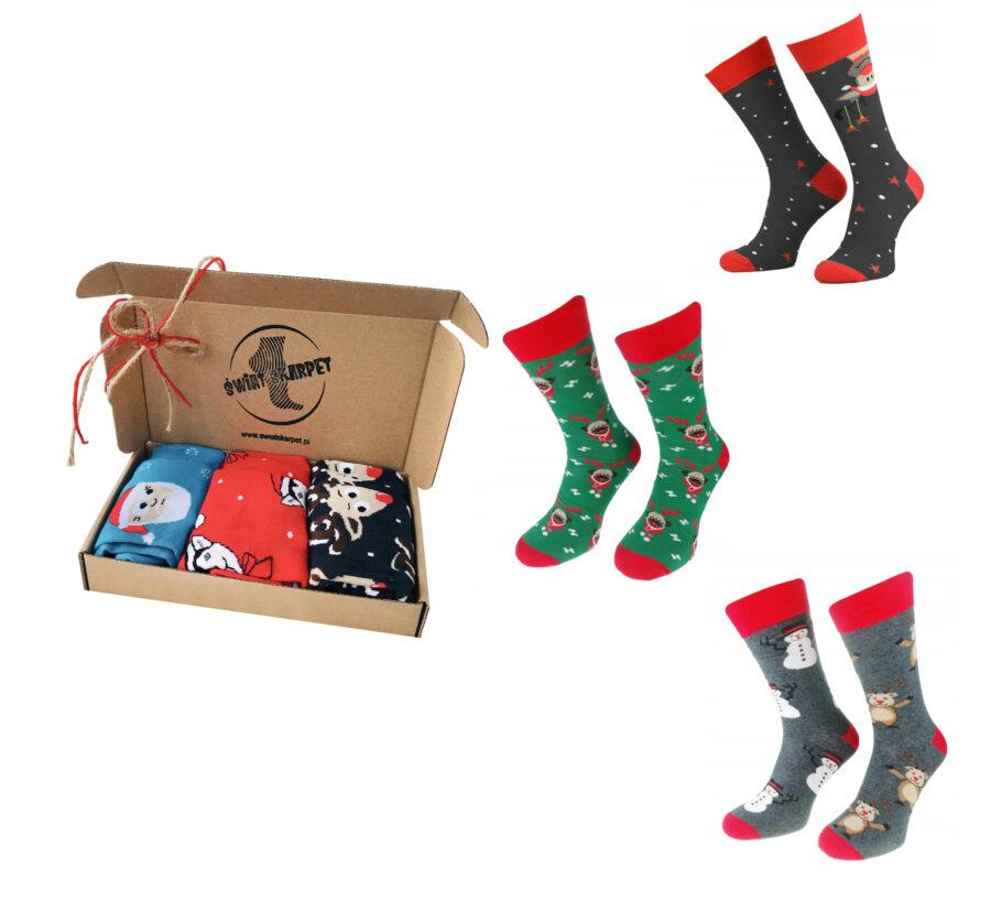 3 pak skarptki meskie marki milena Święta Bożego Narodzenia.