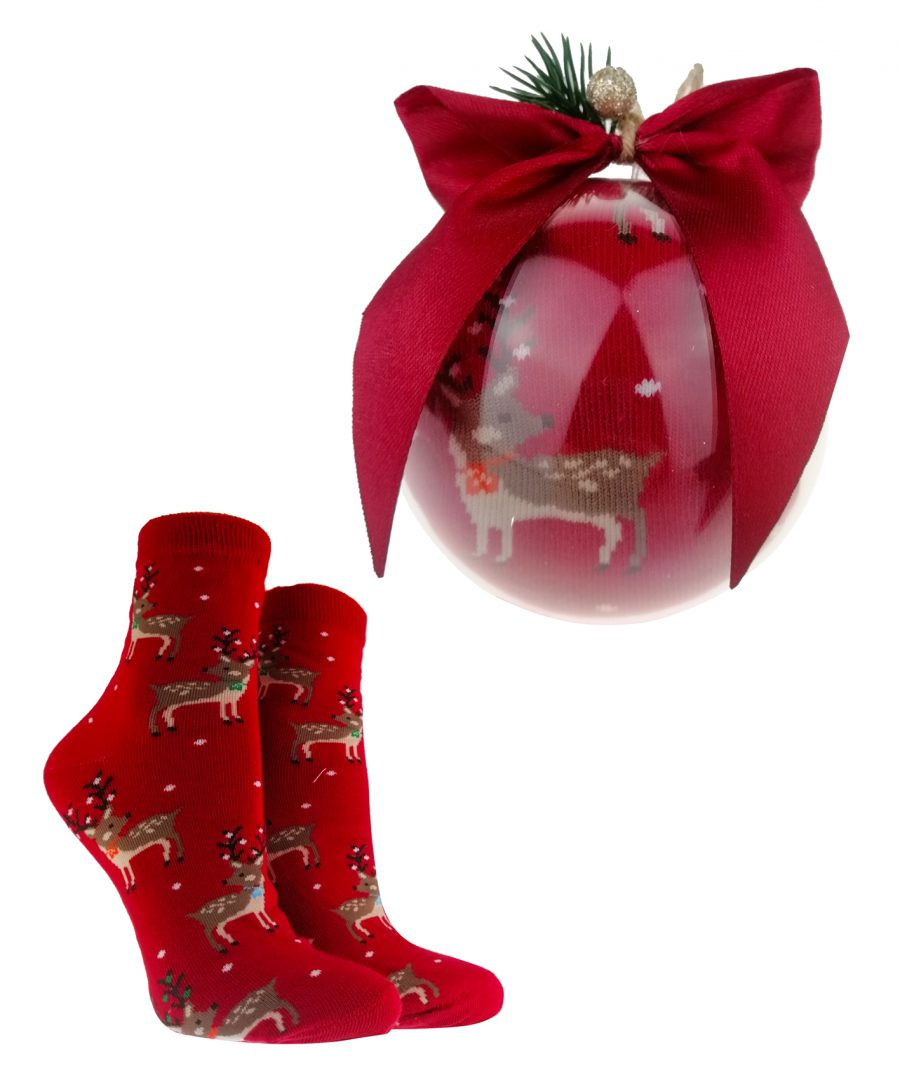 Bombka ze Skarpetami Świątecznymi damskimi na PREZENT
