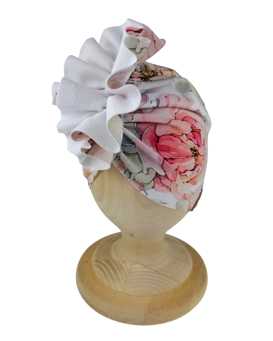 Turban dziecięcy wzór magnolia