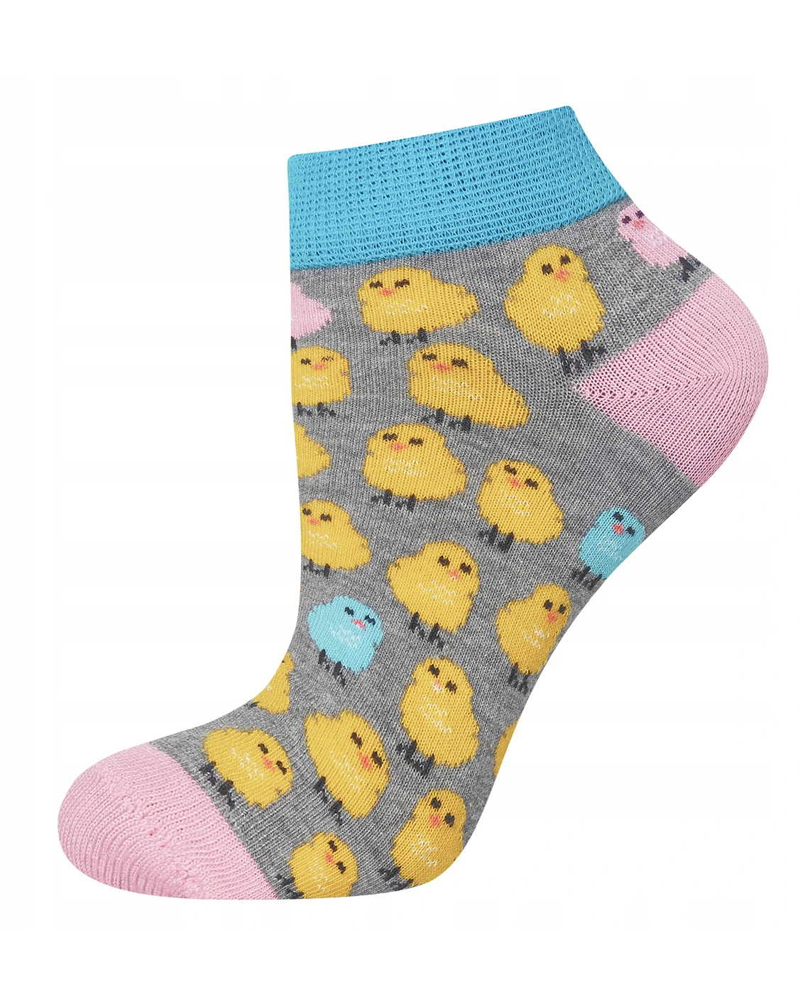 Skarpety SOXO GOOD STUFF zakostki - kurczaczki Zabawne skarpetki dla pań, która pragnie wyrazić swoją niezależność, spontaniczność oraz siłę w walce z codziennymi sprawami. Dzięki dużej zawartości bawełny noga idealnie oddycha nie poci się. Super prezent dla ukochanej.