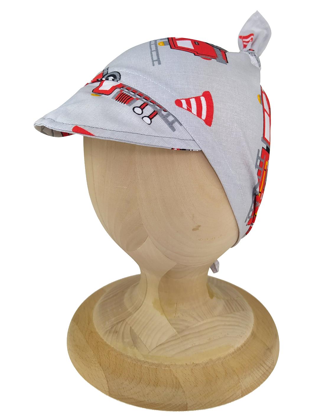 Chustka z daszkiem bandamka dla dzieci uszyta z bawełny 100%. Polski produkt marki Gracja Styl.