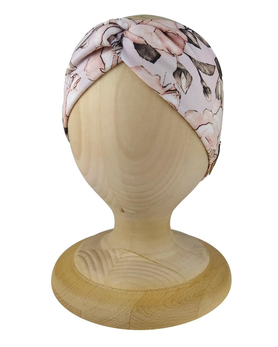 Opaska dziecięca przeplatana Twist. Uszyta z elastycznej bawełny petelkowej. Marka Gracja Styl.