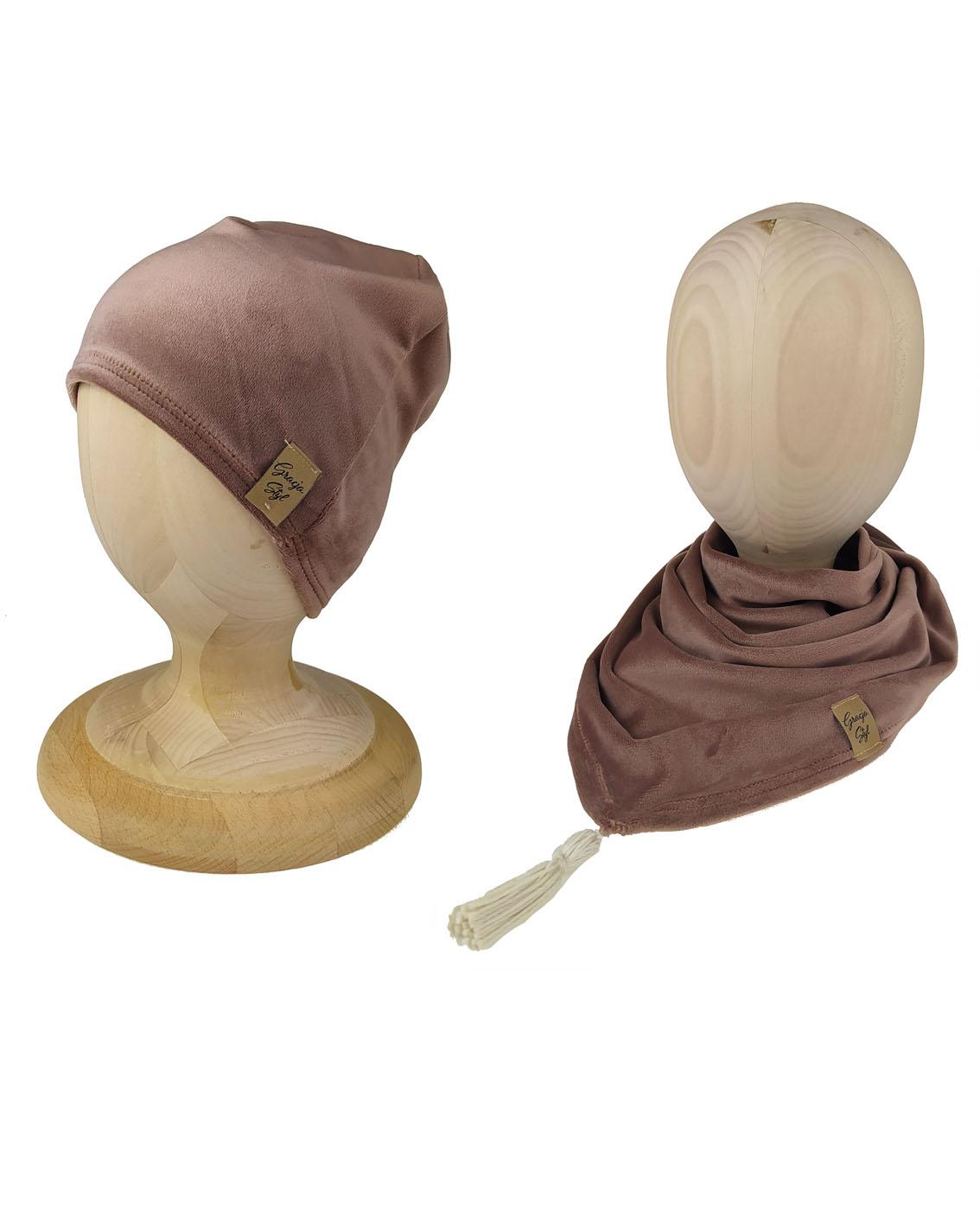 turban + chusta jasny beżowy